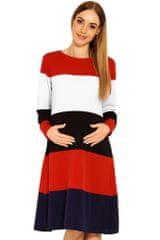 PeKaBoo Těhotenské šaty Mary s pruhy
