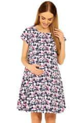 PeKaBoo Těhotenské šaty Linde vzor květů