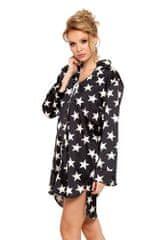 Pigeon Saténová noční košile Alicia černá s hvězdami