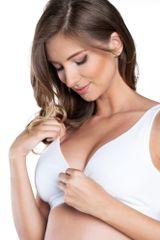 ITALIAN FASHION Bavlněná soft kojicí podprsenka Lux bílá