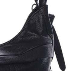 Romina & Co. Bags Praktický dámsky koženkový kabelko batoh Lady style, čierny