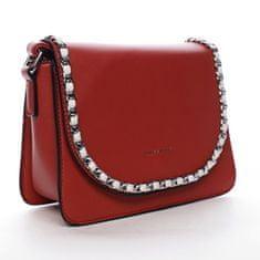 Silvia Rosa Moderná dámska koženková kabelka Colorful Sky, červená