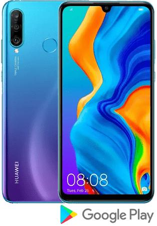 Huawei telefon P30 lite, 4 GB/128 GB, Peacock Blue