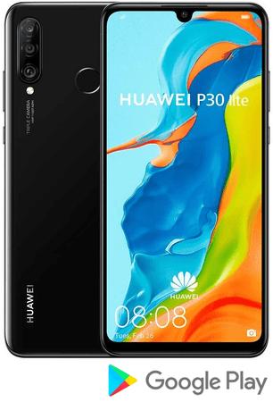 Huawei Pametni telefon P30 lite, 4 GB/128 GB, Midnight Black, črn