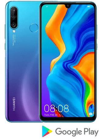 Huawei P30 Lite pametni telefon, 4 GB / 64 GB, Peacock Blue