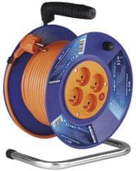 EMOS przedłużacz bębnowy PVC – 4 gniazda, 30 m 1 mm2 1908143001