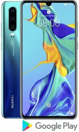 Huawei smartfon P30, 6 GB/128 GB, Aurora