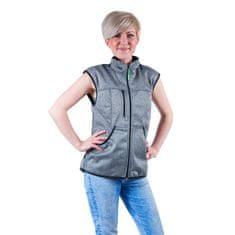 4dox Výcviková dámská vesta - šedý melír - vel. XL