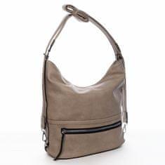 Romina & Co. Bags Moderní dámský koženkový kabelko batoh City joy, soil