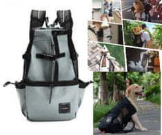Brunbo Šedá cestovní a transportní taška pro psy, prodyšná