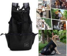 Brunbo Černá cestovní a transportní taška pro psy, prodyšná