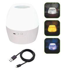 ACA Dětská LED lampička RGB s projektorem obrázků na strop