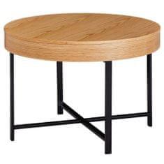 Bruxxi Konferenčný stolík Ema, 69 cm, dub