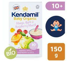 Kendamil Organická/BIO ovsená kaša s ovocím (Mango, jablko, malina) (150 g)