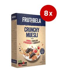 Fructal Frutabela Muesli, čokolada-jagoda, 8 x 350 g