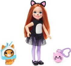 Mattel Barbie Chelsea v kostýme Mačka