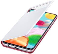 SAMSUNG Flipové puzdro S View Wallet Cover pre Samsung Galaxy A41 EF-EA415PWEGEU, biele