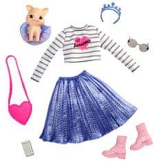 Mattel Barbie Princess Adventure Hišni ljubljenček in obleka z dodatki Pujsek