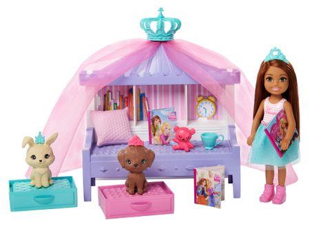 Mattel Barbie Princess Adventure Princezna Chelsea Igralni set s posteljico
