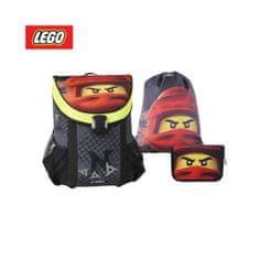 LEGO Ninjago Kai Fire set 3 v 1, šolski nahrbtnik + peresnica, polna + vreča za čevlje