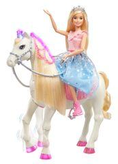Mattel Barbie Princess Adventure Princess in konj, svetlobni in zvočni efekti