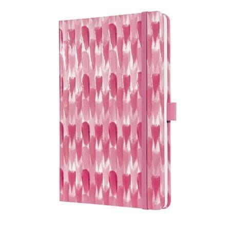 """Sigel Záznamní kniha """"Jolie"""", růžový vzor, linkovaný, A5, 174 stran"""