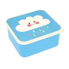 Rex London Modrý svačinový box s motivem mráčku Happy Cloud