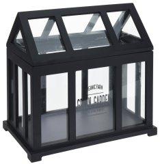 Koopman Drevený výklopný mini skleník, 32 × 32 × 20 cm