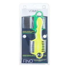 Vitammy FINO Zestaw grzebieni wszy i gnid, żółto-zielony