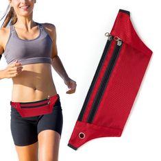 MG Ultimate Running Belt futó öv fülhallgató kimenettel, piros