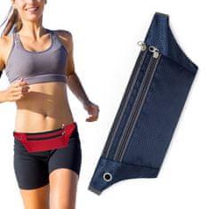 MG Ultimate Running Belt futó öv fülhallgató kimenettel, kék