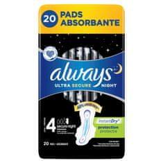 Always Ultra Secure Night Hygienické vložky 20 ks