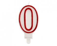 GoDan Tortová sviečka číslo 0 - červená