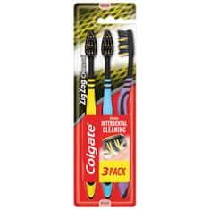 Colgate Zubní kartáček Zig Zag charcoal 3pack