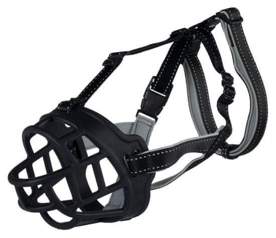 Trixie Silikonový náhubek flex m-l 31 cm/hlava max.27 cm černý