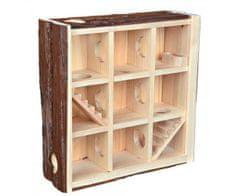 Trixie Natural living hrací věž/bludiště, 3 poschodí 30x30x10 cm