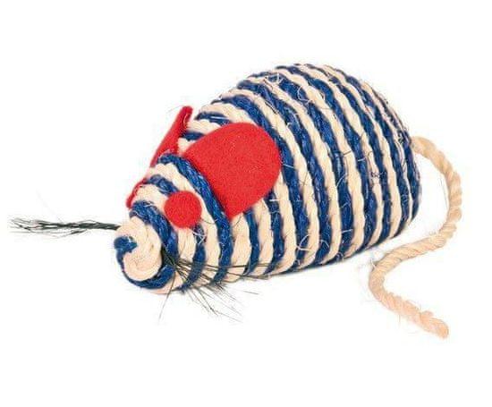 Trixie Myš se štěrchacími kuličkami uvnitř, sisal 10 cm, hračky
