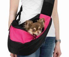 Trixie Přenosná taška-nosička na hrudník 50x25x18cm růžovo/černá