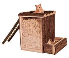 Trixie Natural living domeček a hrací věž s žebříkem 25x24x20 cm