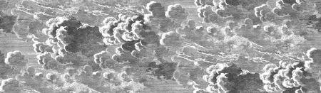 Cole & Son Ozadje NUVOLETTE 28054, kolekcija FORNASETTI SENZA TEMPO (komplet dveh zvitkov)