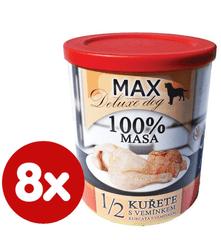 FALCO MAX Deluxe konzerve za odrasle pse, 1/2 piletina s goveđim vimenima, 8x 800 g