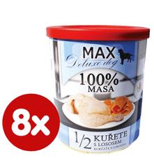 FALCO MAX Deluxe konzerve za odrasle pse, 1/2 piletina s lososom, 8x 800 g