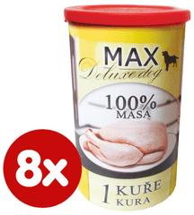 FALCO MAX Deluxe konzerve za odrasle pse, piletina, 8x 1200 g