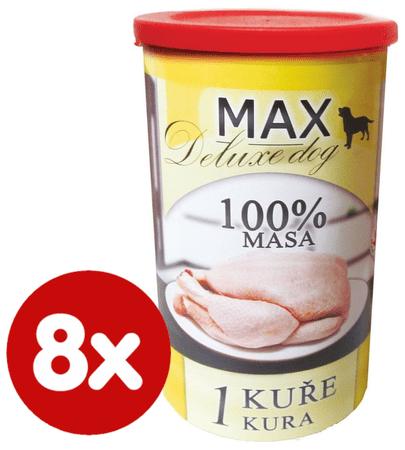 FALCO MAX Deluxe konzerve za odrasle pse, piščanec, 8x 1200 g