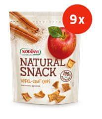 Kotanyi Natural Snack jabolčni čips, s cimetom, 9 kosov