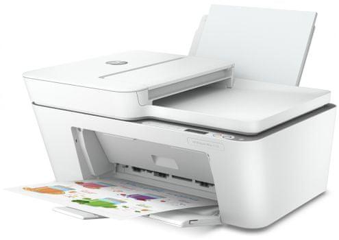 Tiskárna HP DeskJet Plus 4120 All-in-One (3XV14B) černobílá, inkoustová, vhodná do kanceláří
