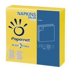 Papernet Papírové ubrousky ReadyTable 2vrstvy 38x38 cm žluté 44ks