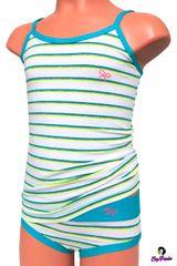 EMY Bimba Emy Bimba 1047 dívčí kalhotky s košilkou Barva: modrá, Velikost oblečení: 2-92