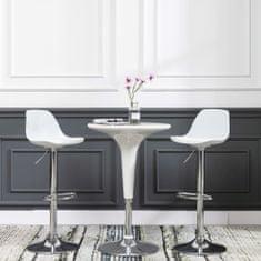 shumee Barové židle 2 ks bílé umělá kůže