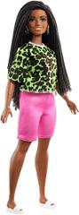 Mattel Barbie Modelka 144 - Tričko s neónovým leopardím vzorom a ružovými šortkami